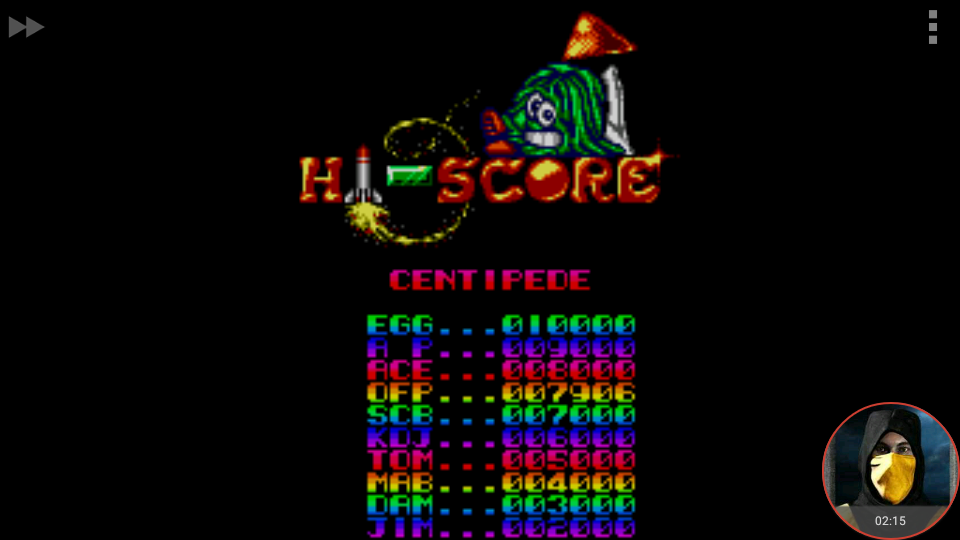 omargeddon: Arcade Smash Hits: Centipede (Sega Master System Emulated) 7,906 points on 2018-04-15 22:07:18