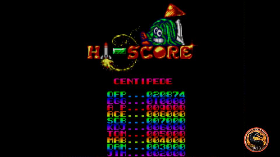 omargeddon: Arcade Smash Hits: Centipede (Sega Master System Emulated) 20,874 points on 2019-01-03 00:20:27