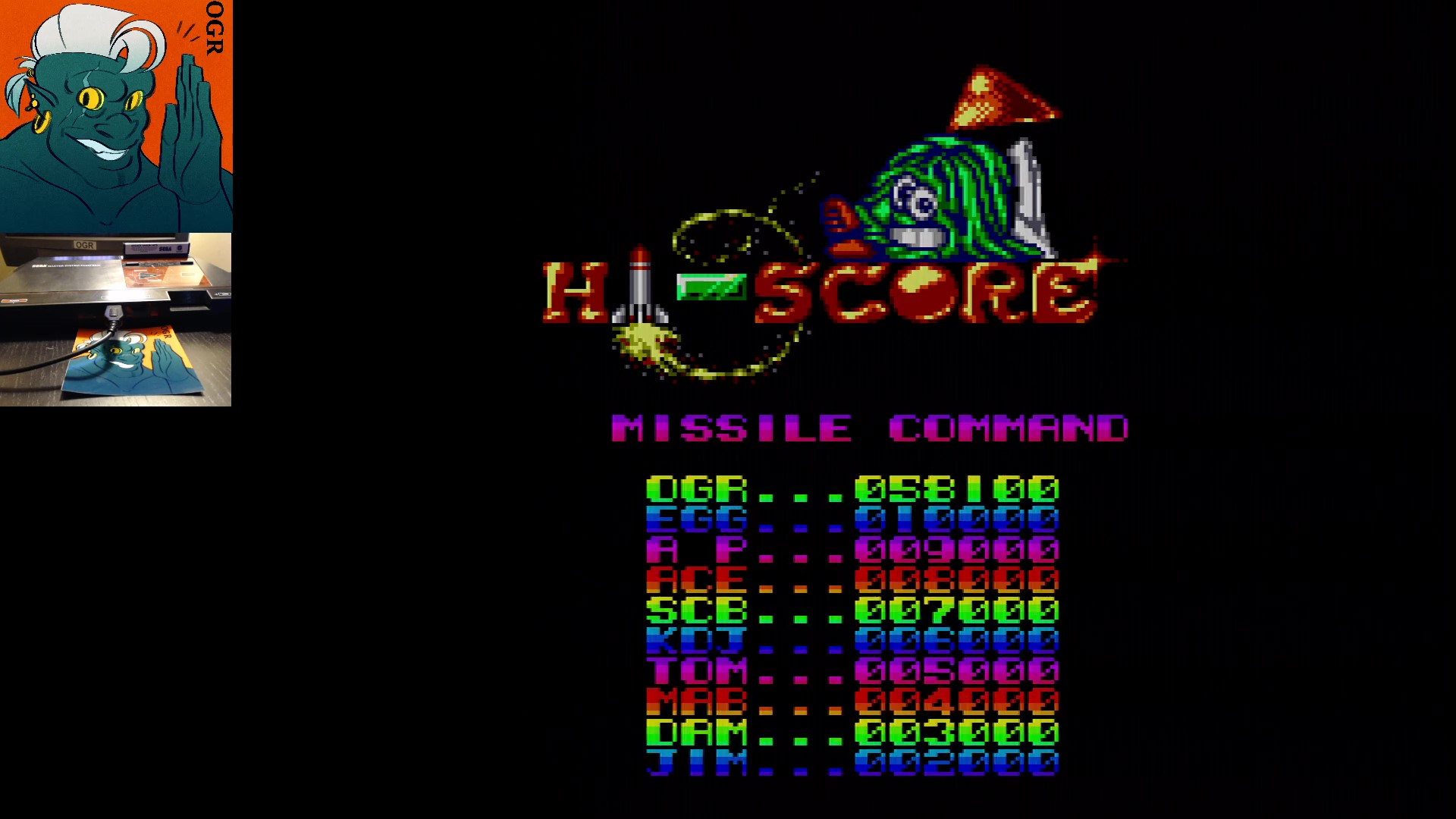AwesomeOgre: Arcade Smash Hits: Missile Command (Sega Master System) 58,100 points on 2020-01-17 13:16:11