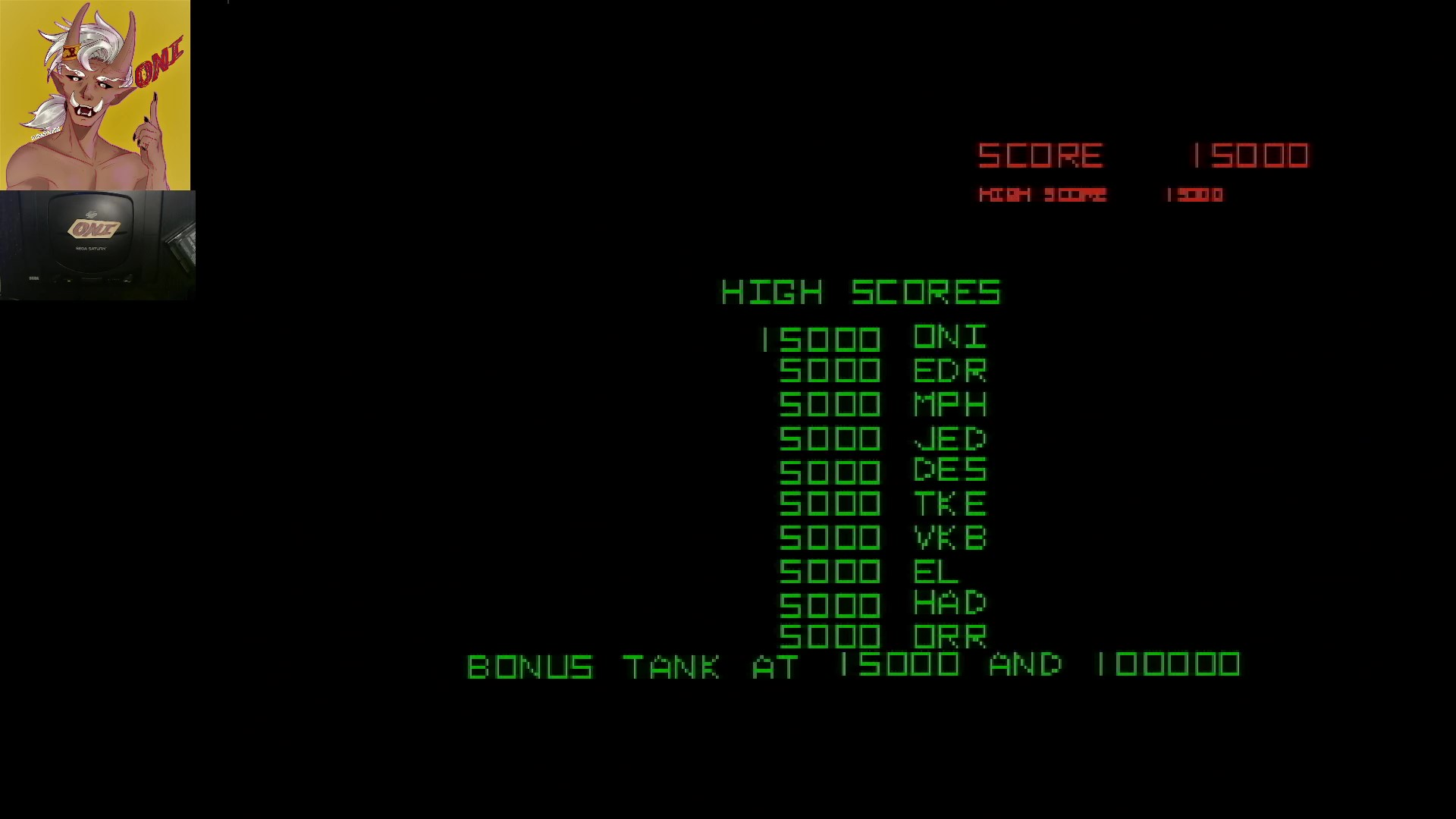 OniDensetsu: Arcade`s Greatest Hits: The Atari Collection 1: Battlezone (Sega Saturn) 15,000 points on 2021-07-17 03:21:28