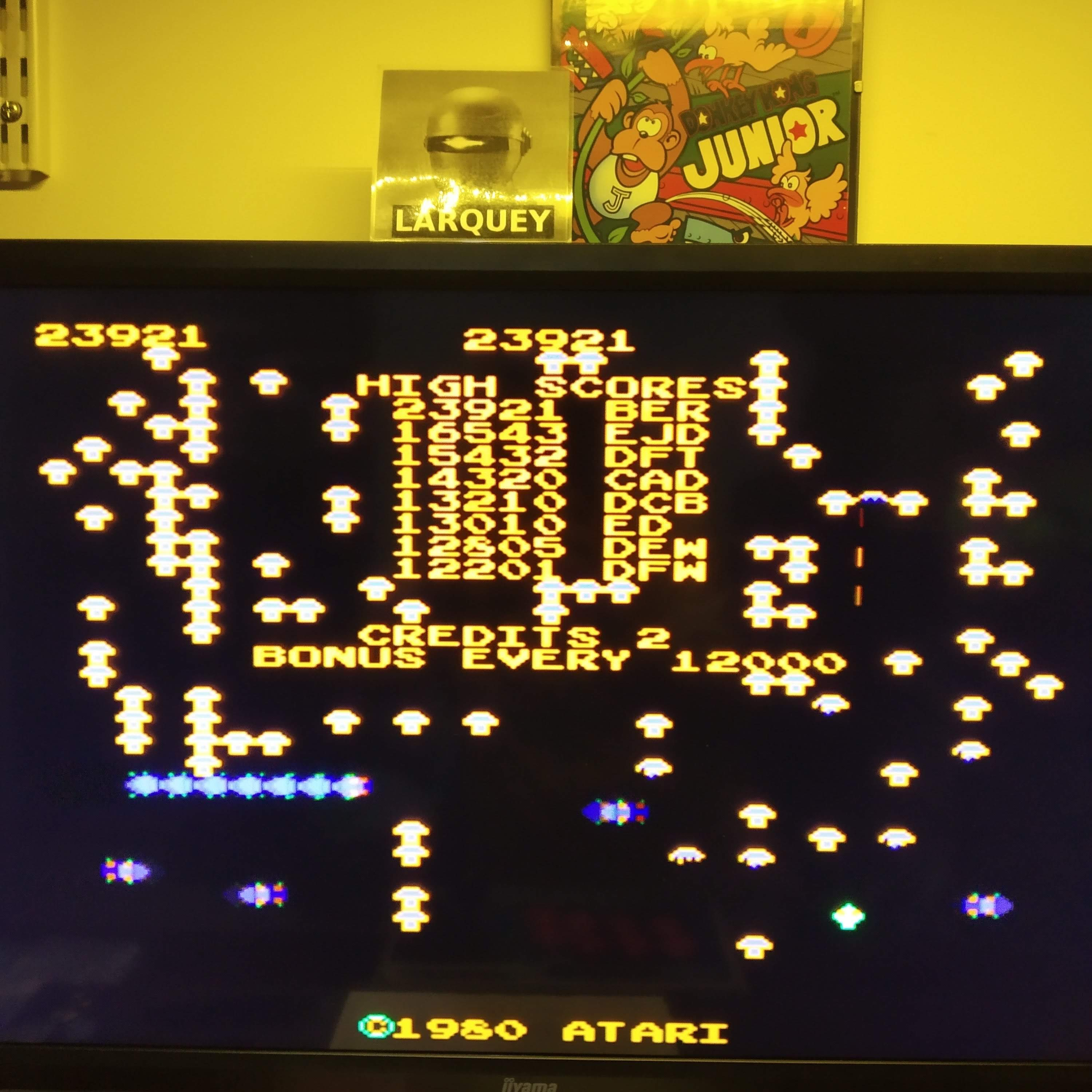 Larquey: Arcade`s Greatest Hits: The Atari Collection 1: Centipede (Playstation 1 Emulated) 23,921 points on 2020-08-21 11:50:40