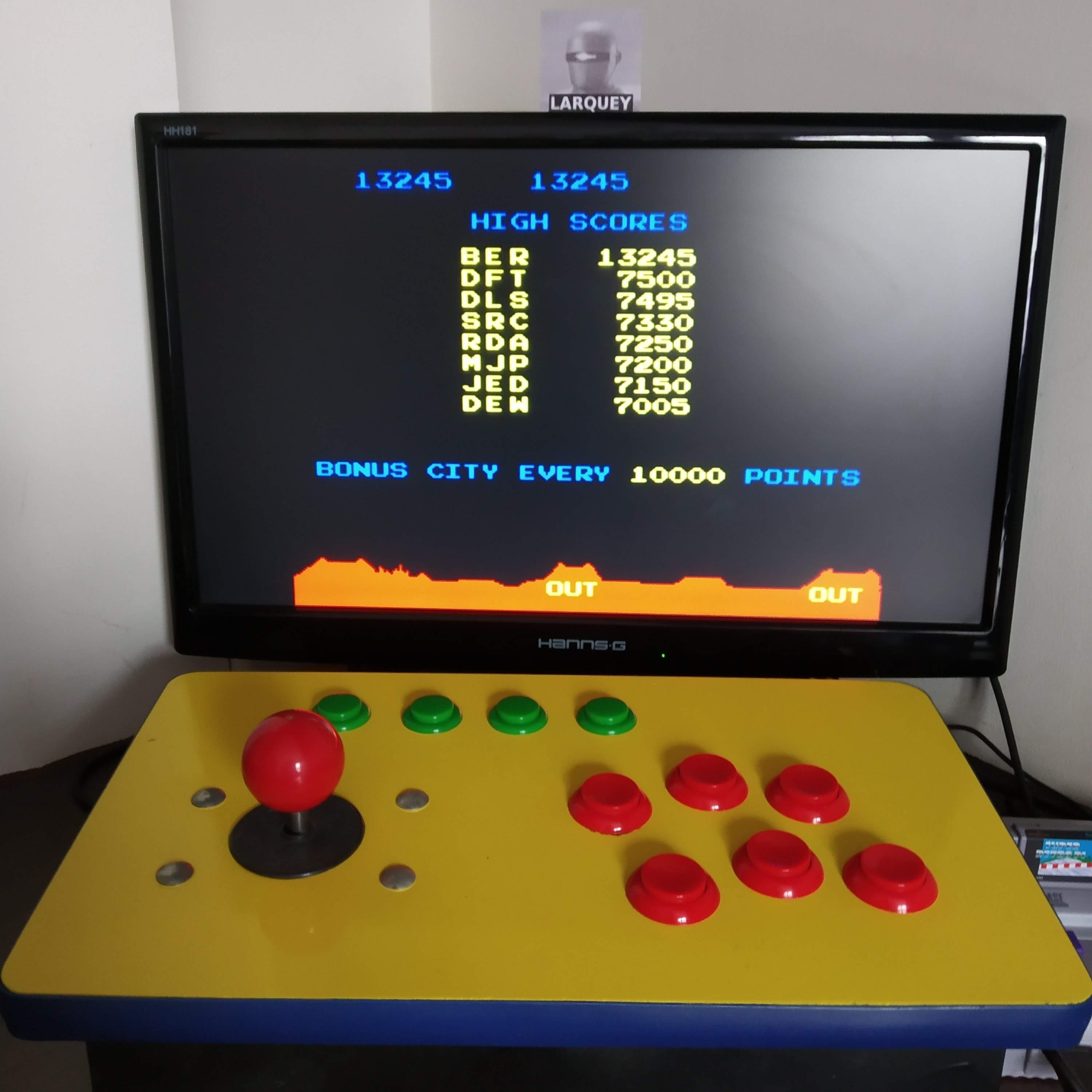 Larquey: Arcade`s Greatest Hits: The Atari Collection 1: Missile Command (SNES/Super Famicom Emulated) 13,245 points on 2020-08-16 07:36:26
