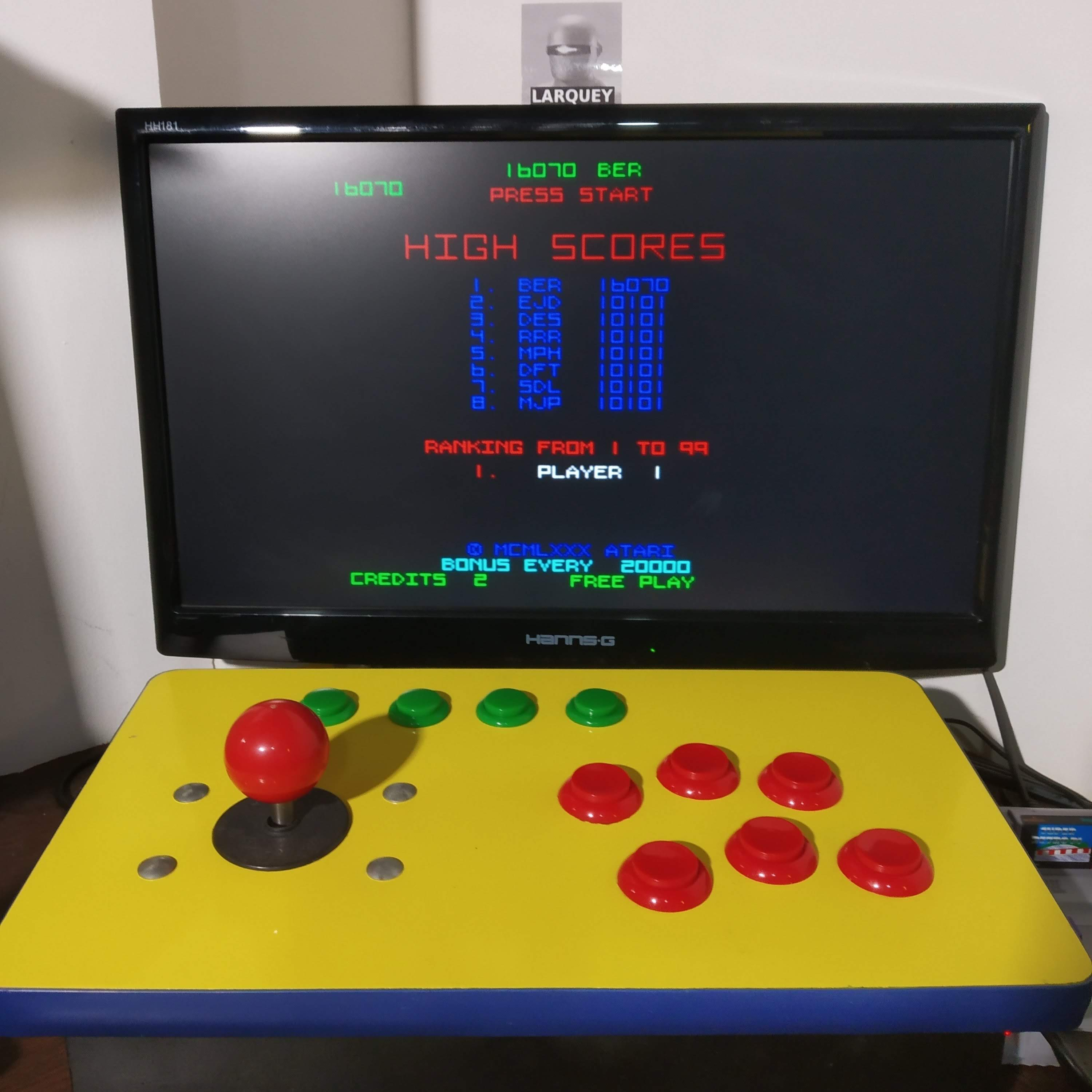 Larquey: Arcade`s Greatest Hits: The Atari Collection 1: Tempest (SNES/Super Famicom Emulated) 16,070 points on 2020-08-15 13:14:54