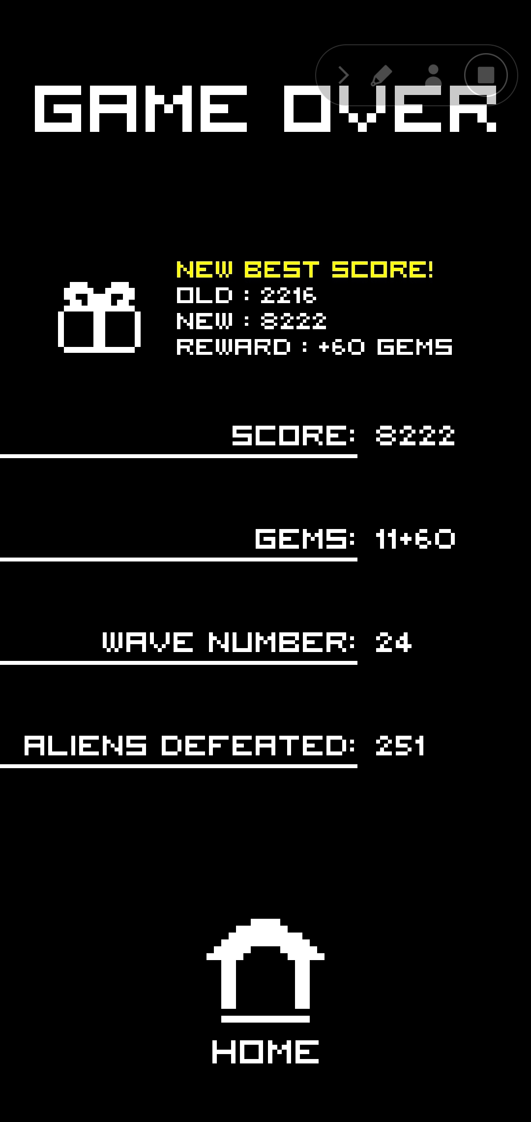 Arcadium 8,222 points