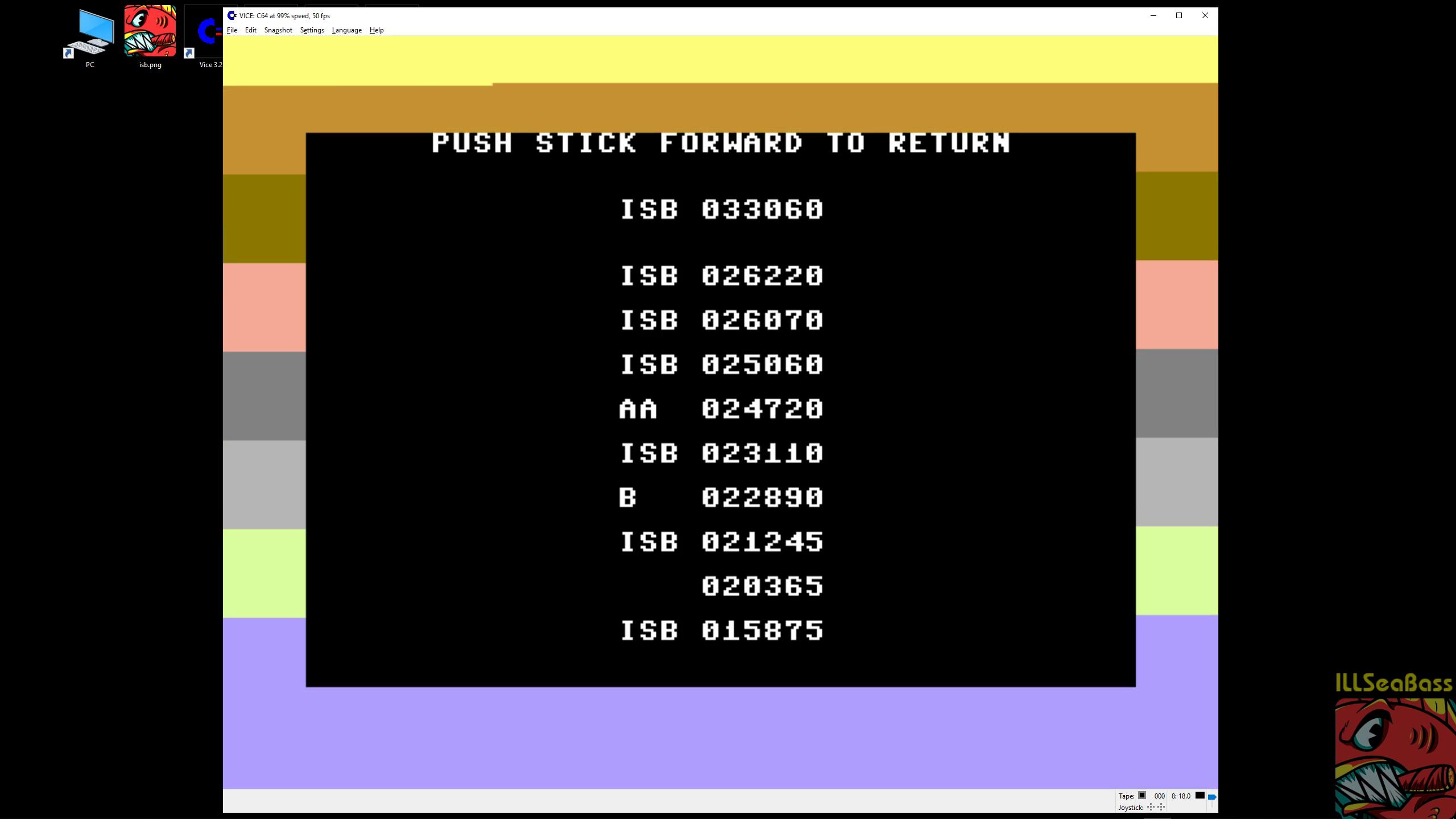 ILLSeaBass: Ardy The Aardvark [1983] (Commodore 64 Emulated) 33,060 points on 2019-02-24 12:25:21
