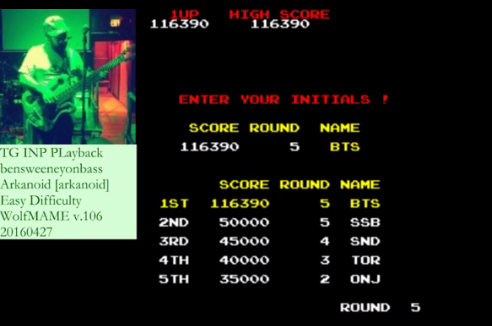 bensweeneyonbass: Arkanoid (Arcade Emulated / M.A.M.E.) 116,390 points on 2016-05-20 09:32:55