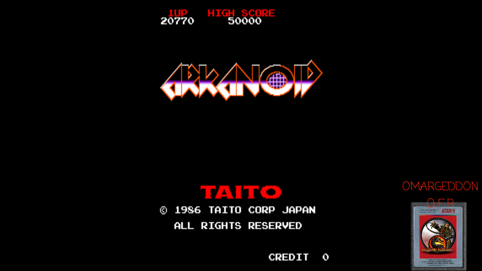 omargeddon: Arkanoid (Arcade Emulated / M.A.M.E.) 20,770 points on 2017-04-23 16:28:19