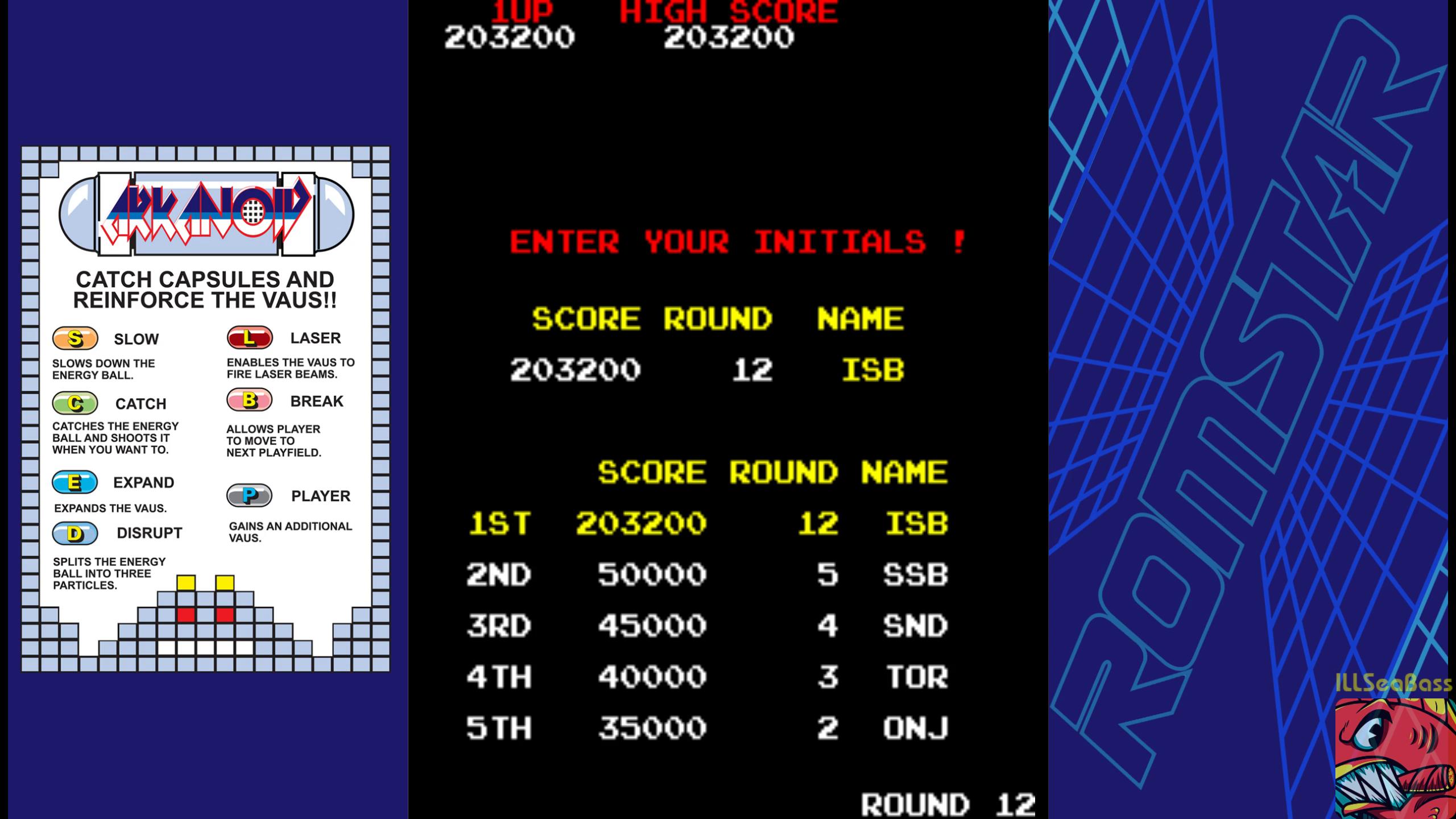 ILLSeaBass: Arkanoid (Arcade Emulated / M.A.M.E.) 203,200 points on 2019-03-02 21:21:21