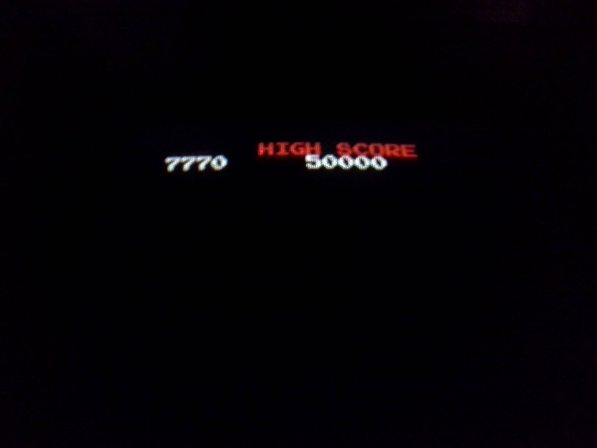 Arkanoid 7,770 points