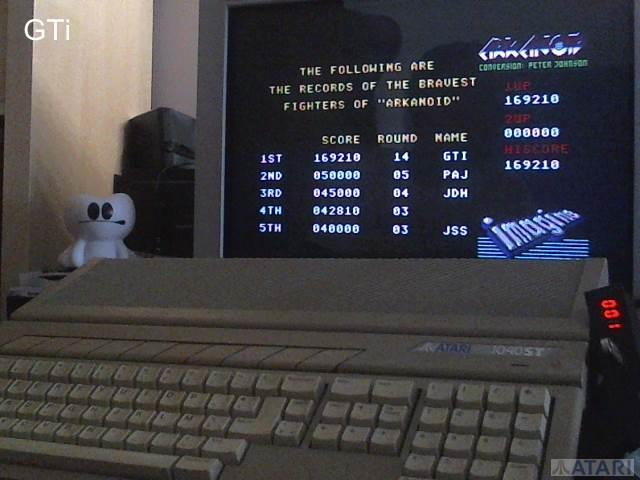 GTibel: Arkanoid (Atari ST) 169,210 points on 2017-07-01 03:36:07