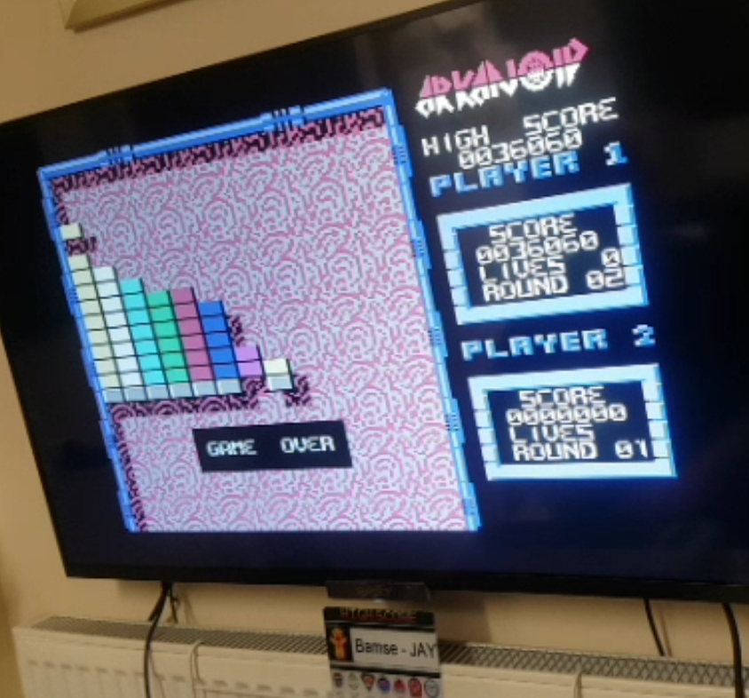 Bamse: Arkanoid (Commodore 64 Emulated) 36,060 points on 2020-01-11 03:39:31