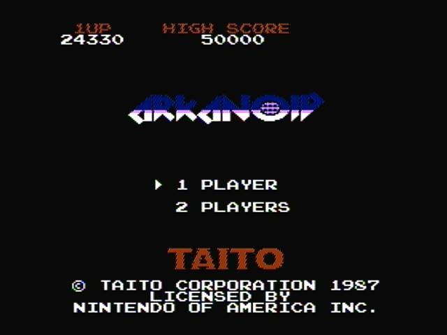 derek: Arkanoid (NES/Famicom) 24,330 points on 2016-08-05 19:53:13