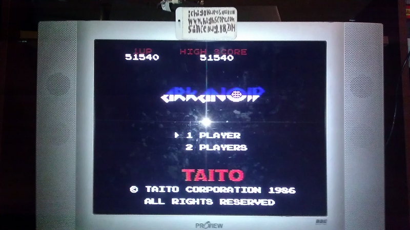 ichigokurosaki1991: Arkanoid (NES/Famicom) 51,540 points on 2016-08-10 02:38:56