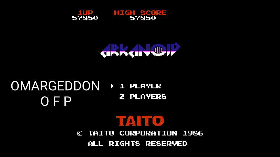Arkanoid 57,850 points