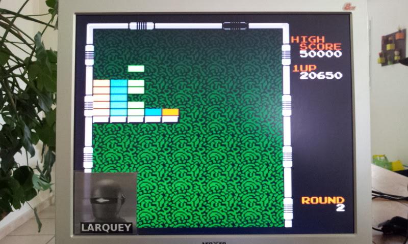 Larquey: Arkanoid (NES/Famicom Emulated) 20,650 points on 2017-04-27 04:51:38