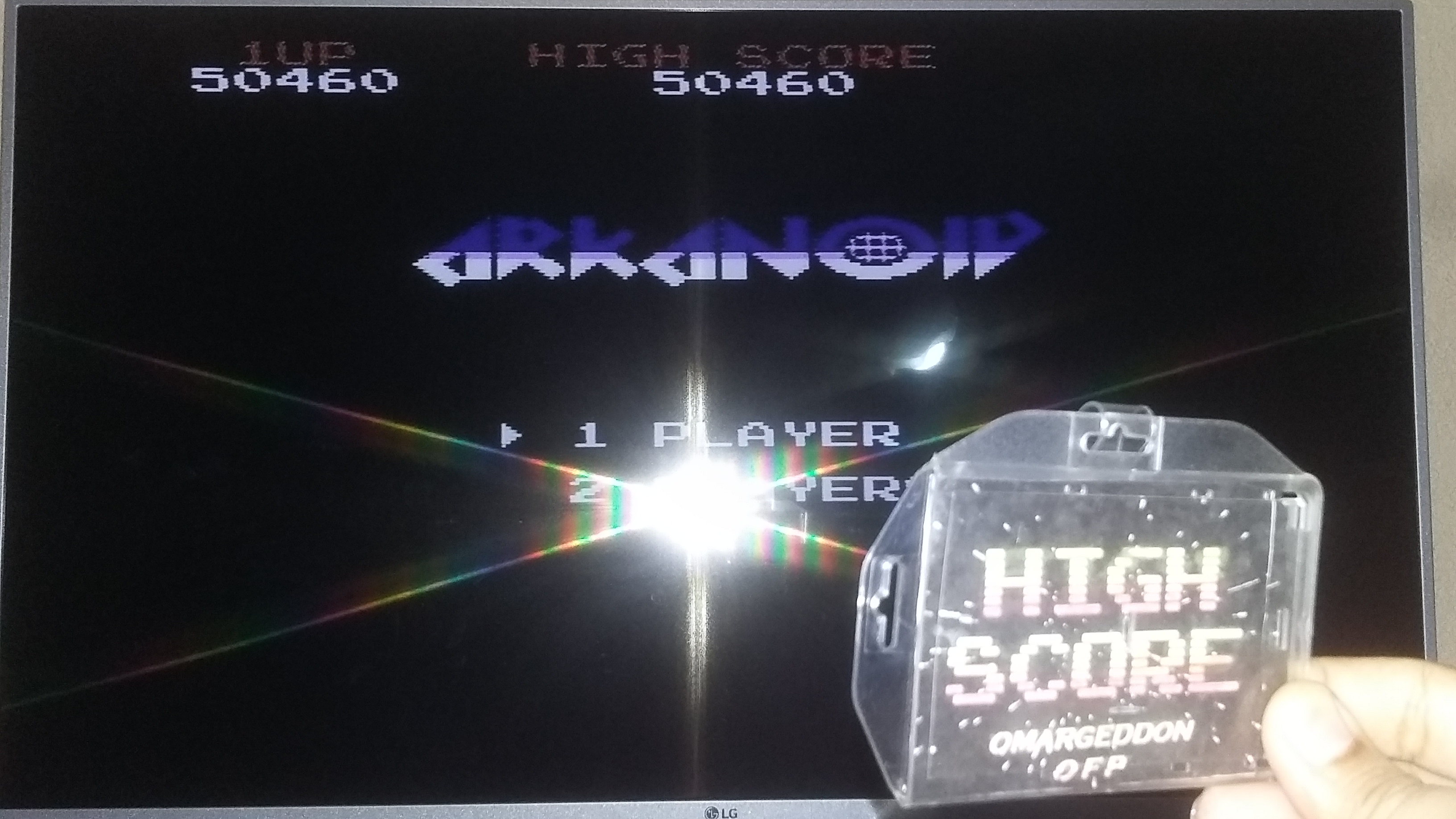 omargeddon: Arkanoid (NES/Famicom) 50,460 points on 2018-05-12 18:14:14