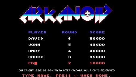 ed1475: Arkanoid (PC Emulated / DOSBox) 18,880 points on 2016-09-03 17:24:34