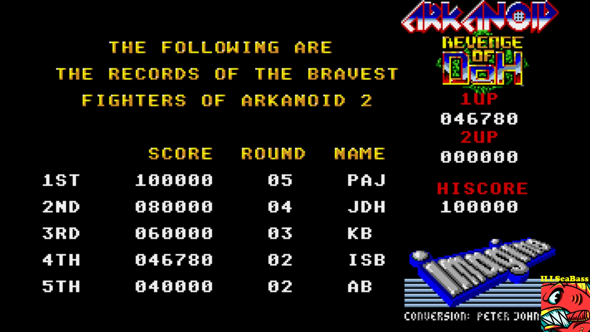 ILLSeaBass: Arkanoid: Revenge of Doh (Amiga Emulated) 46,780 points on 2017-10-29 01:38:58