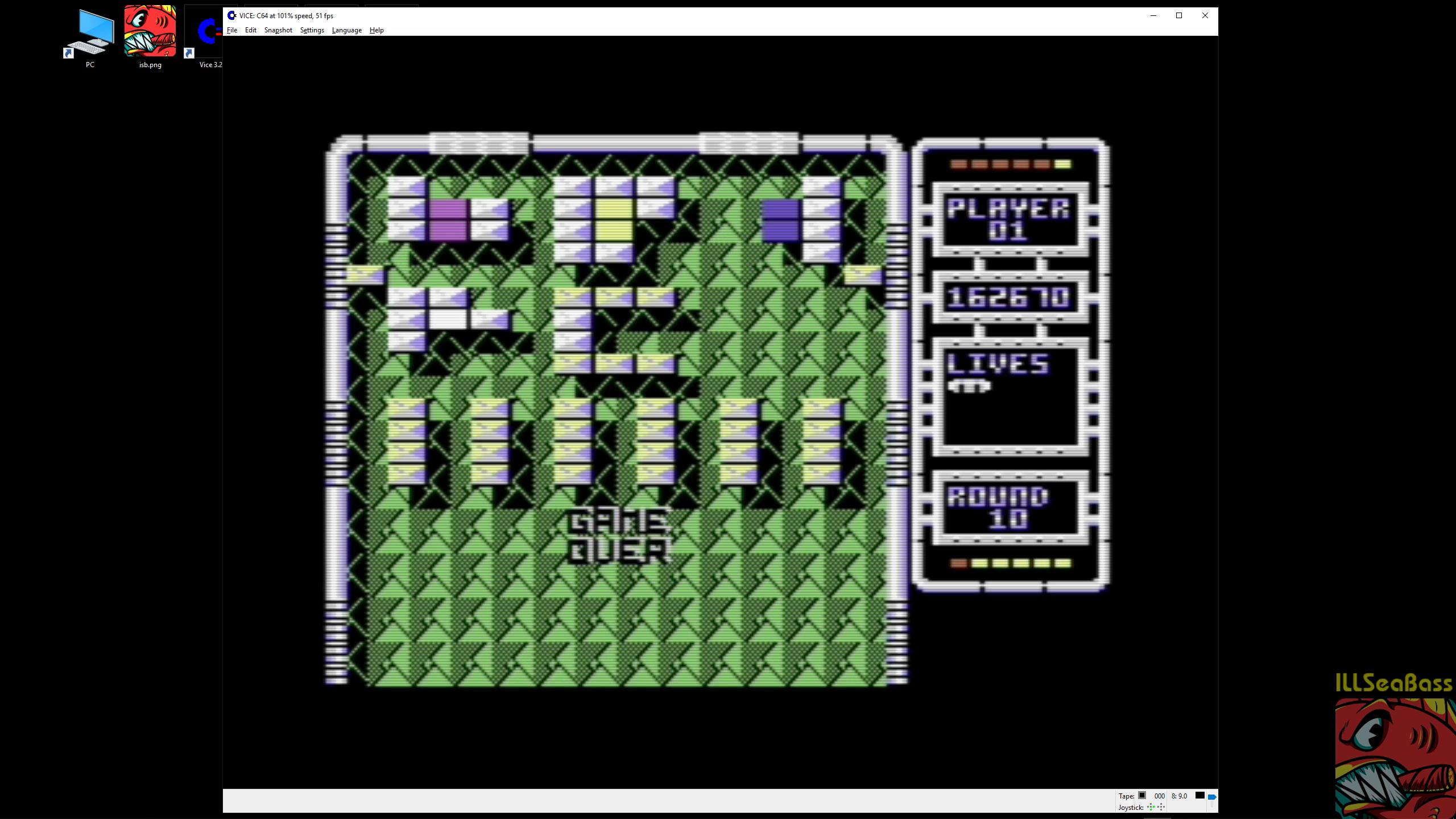 ILLSeaBass: Arkanoid: Revenge of Doh (Commodore 64 Emulated) 162,670 points on 2019-02-21 06:39:10
