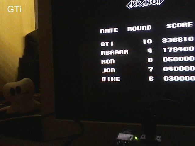 Arkanoid: Revenge of Doh 338,810 points