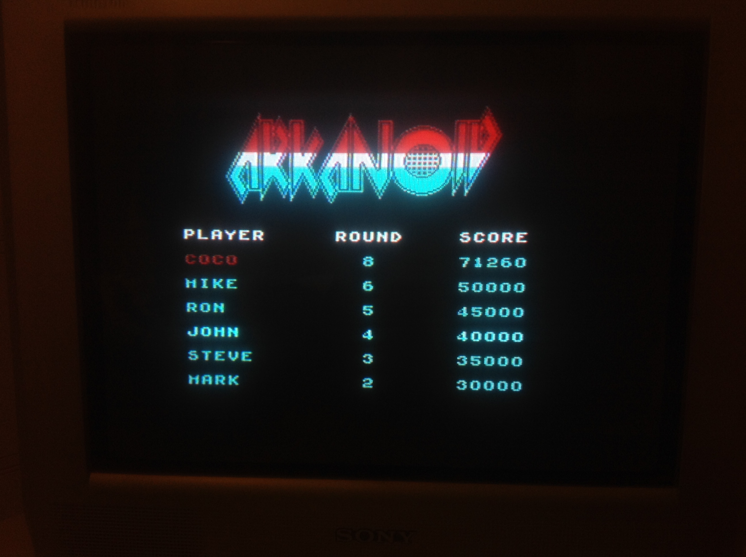 CoCoForest: Arkanoid (ZX Spectrum) 71,260 points on 2016-01-07 12:05:31