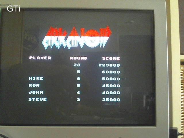 GTibel: Arkanoid (ZX Spectrum) 223,880 points on 2017-05-22 06:38:08