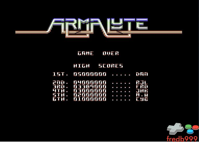 Armalyte 3,389,000 points