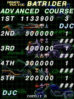 derek: Armed Police Batrider: Advance [batrider] (Arcade Emulated / M.A.M.E.) 1,133,900 points on 2017-04-12 12:50:29