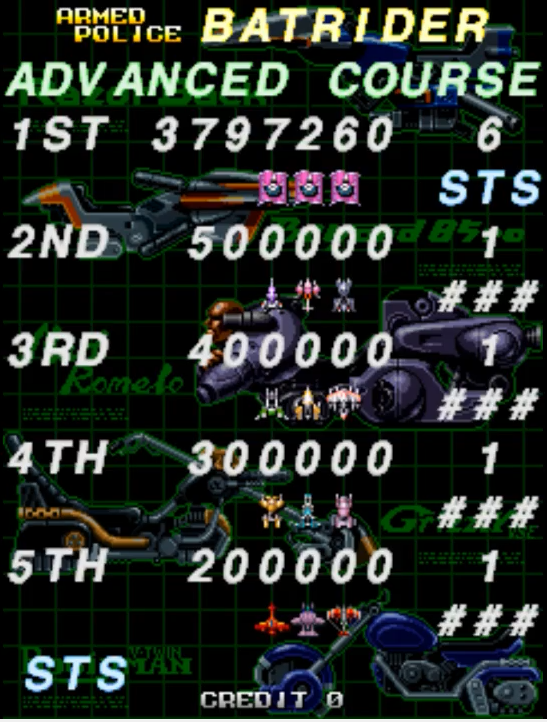 STS: Armed Police Batrider: Advance [batrider] (Arcade Emulated / M.A.M.E.) 3,797,260 points on 2017-04-21 07:31:54
