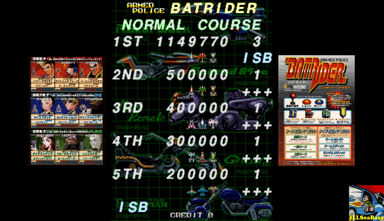 ILLSeaBass: Armed Police Batrider: Normal [batrider] (Arcade Emulated / M.A.M.E.) 1,149,770 points on 2016-11-27 21:36:47