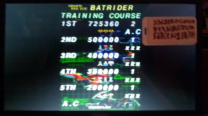 Armed Police Batrider: Training [batrider] 725,360 points