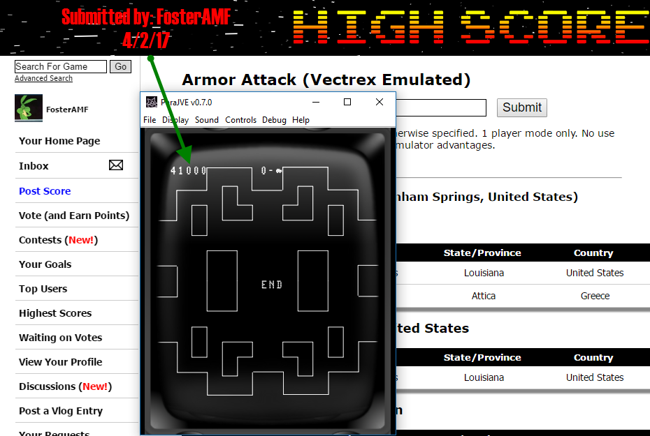 FosterAMF: Armor Attack (Vectrex Emulated) 41,000 points on 2017-04-02 15:47:27