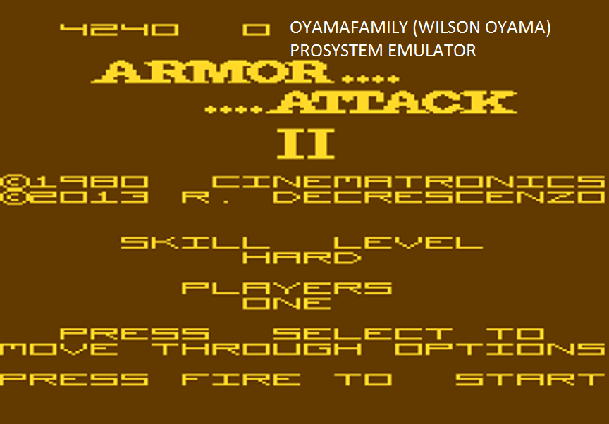oyamafamily: Armour Attack 2: Hard (Atari 7800 Emulated) 4,240 points on 2016-03-08 19:21:57