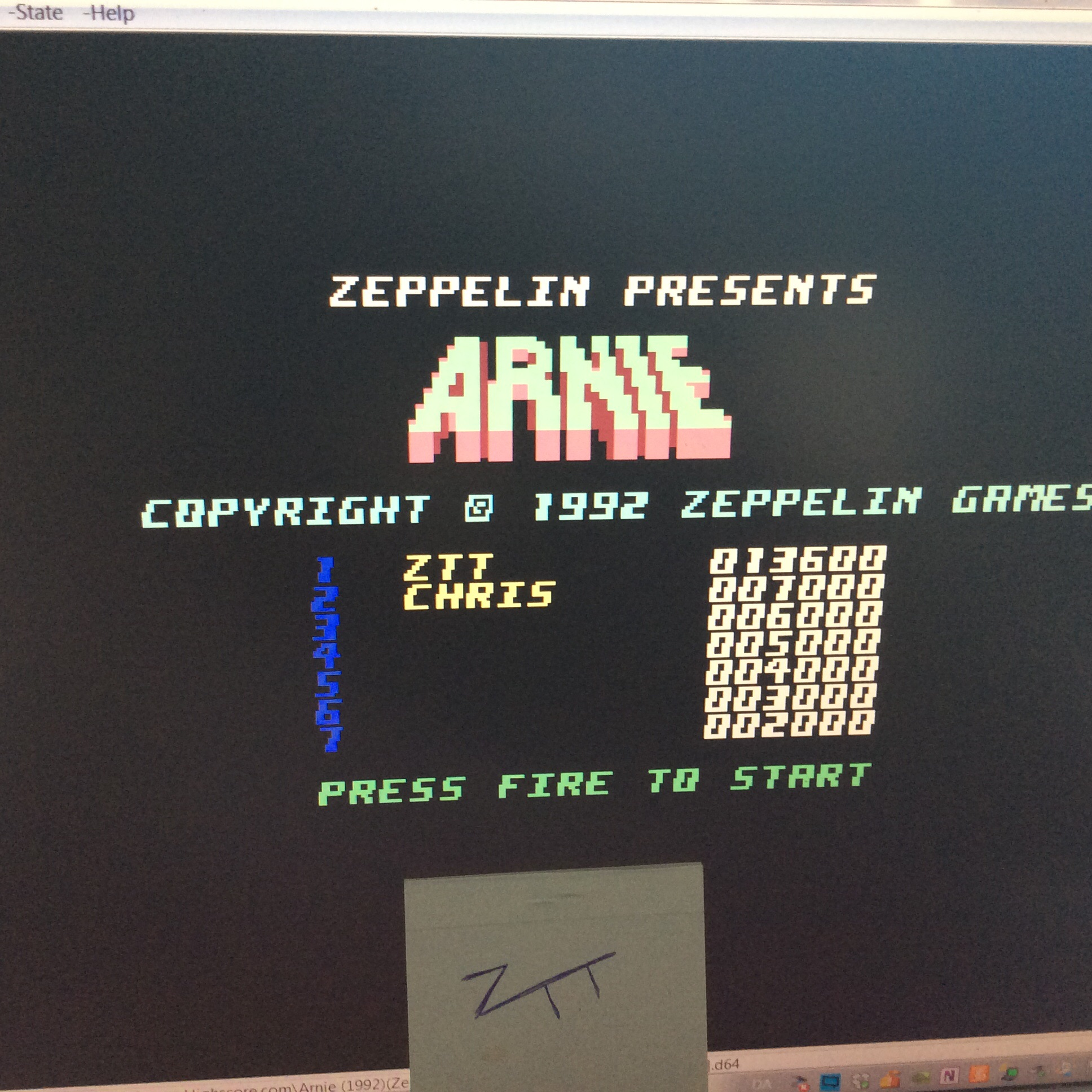 Frankie: Arnie (Commodore 64 Emulated) 13,600 points on 2016-06-04 12:44:15