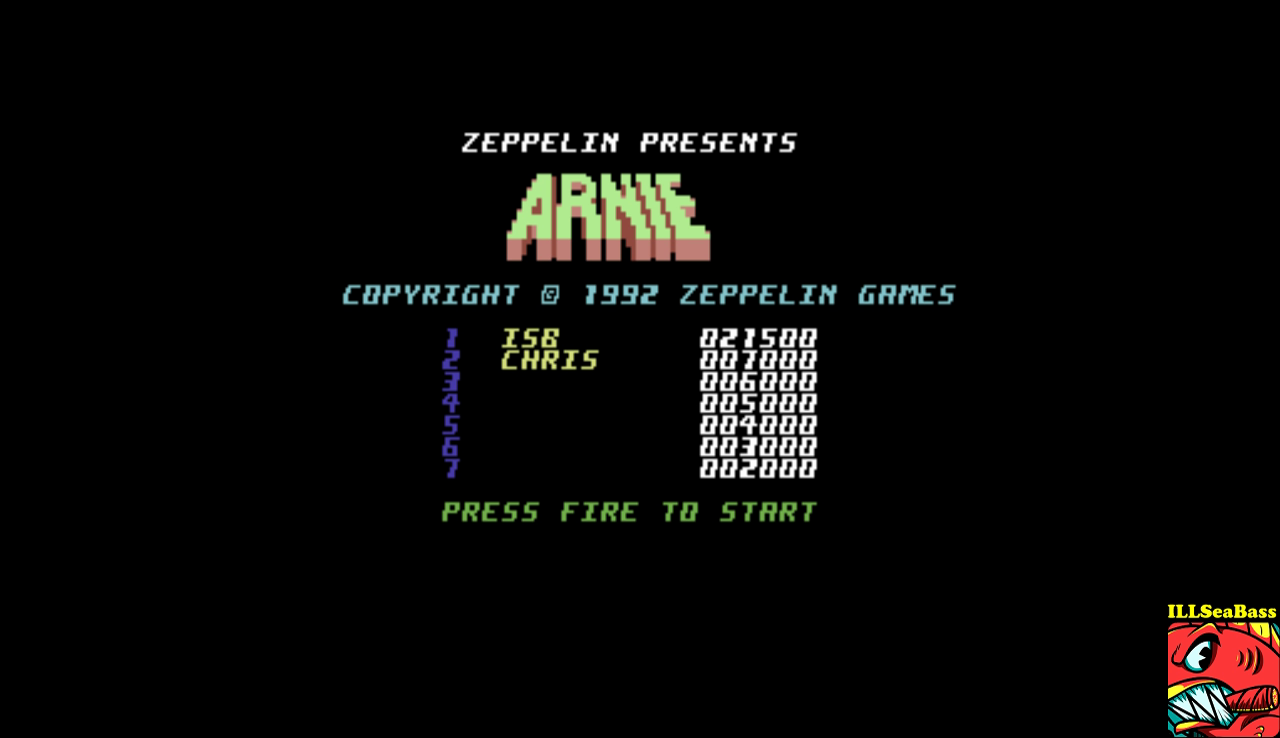 ILLSeaBass: Arnie (Commodore 64 Emulated) 21,500 points on 2017-01-11 08:46:49
