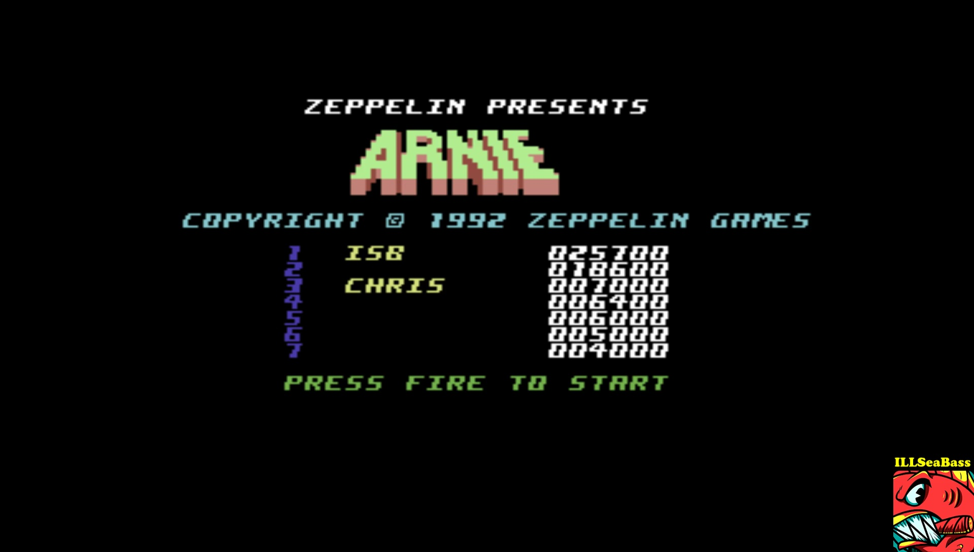 ILLSeaBass: Arnie (Commodore 64 Emulated) 25,700 points on 2017-03-16 00:58:32