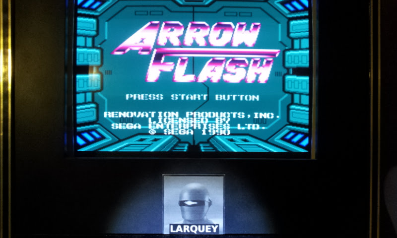 Larquey: Arrow Flash [Easy / Auto Fire Allowed] (Sega Genesis / MegaDrive Emulated) 173,660 points on 2018-01-03 12:48:22