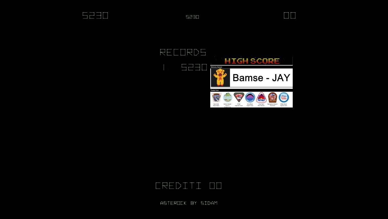 Bamse: Asterock [asterock] (Arcade Emulated / M.A.M.E.) 5,230 points on 2019-12-05 16:52:12