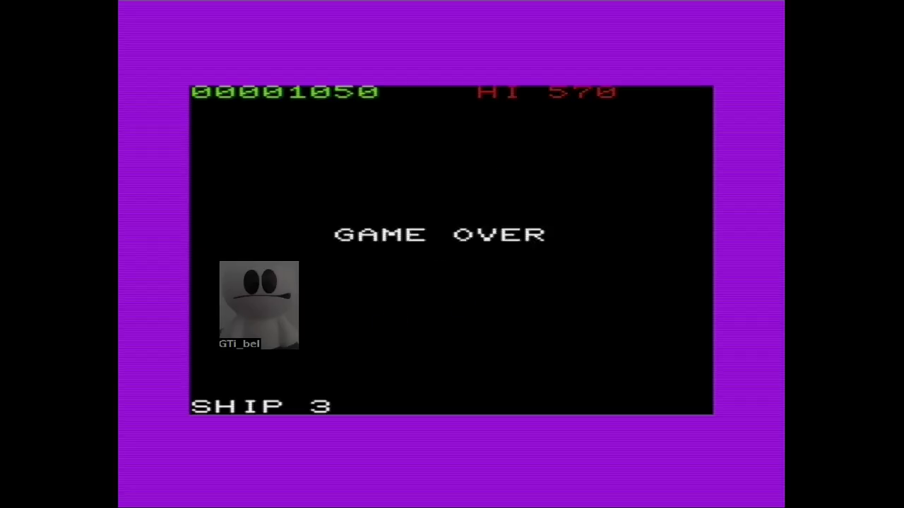 GTibel: Asteroids 5 (Commodore VIC-20 Emulated) 1,050 points on 2018-02-02 10:24:32