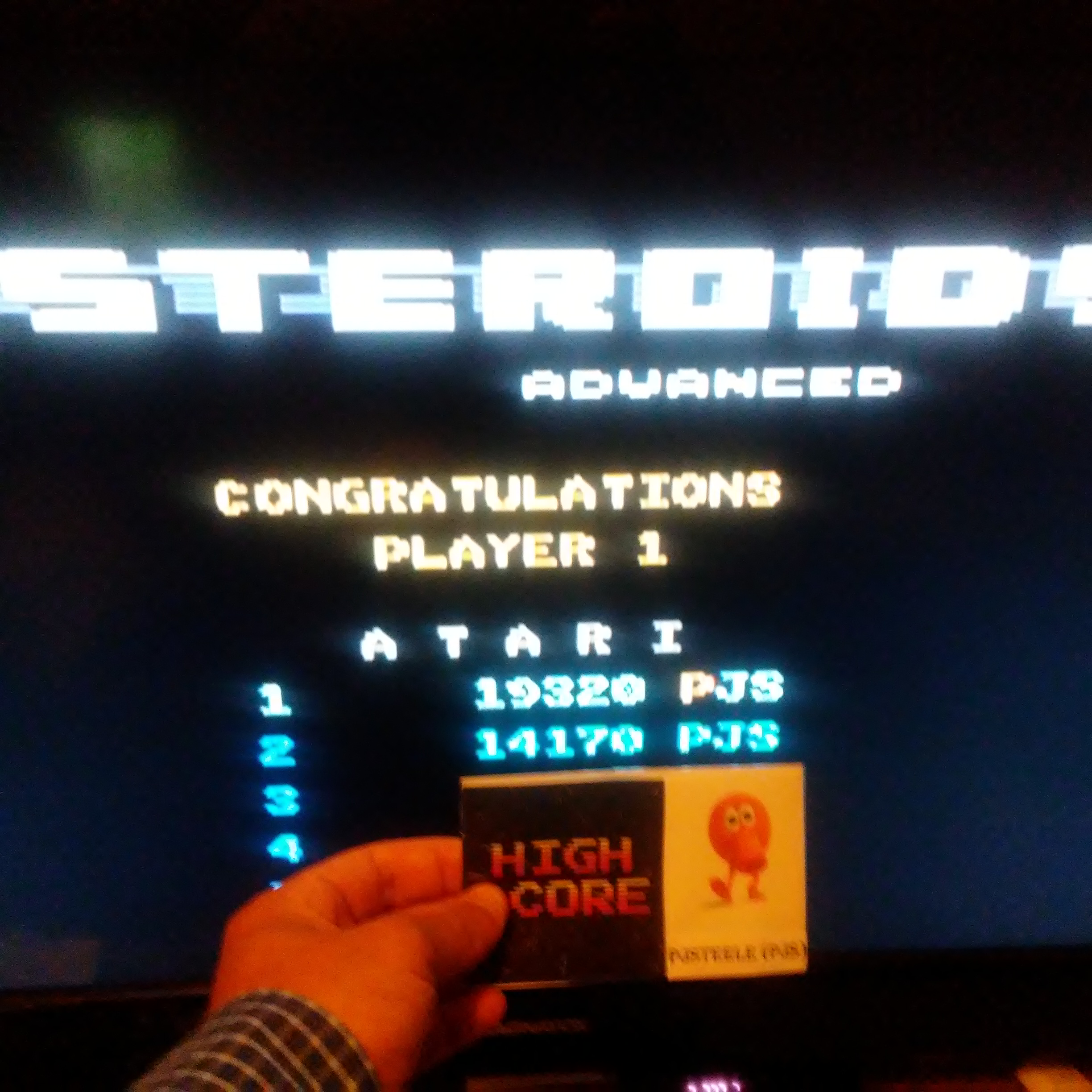 Pjsteele: Asteroids: Advanced (Atari 7800 Emulated) 19,320 points on 2017-07-21 18:35:58