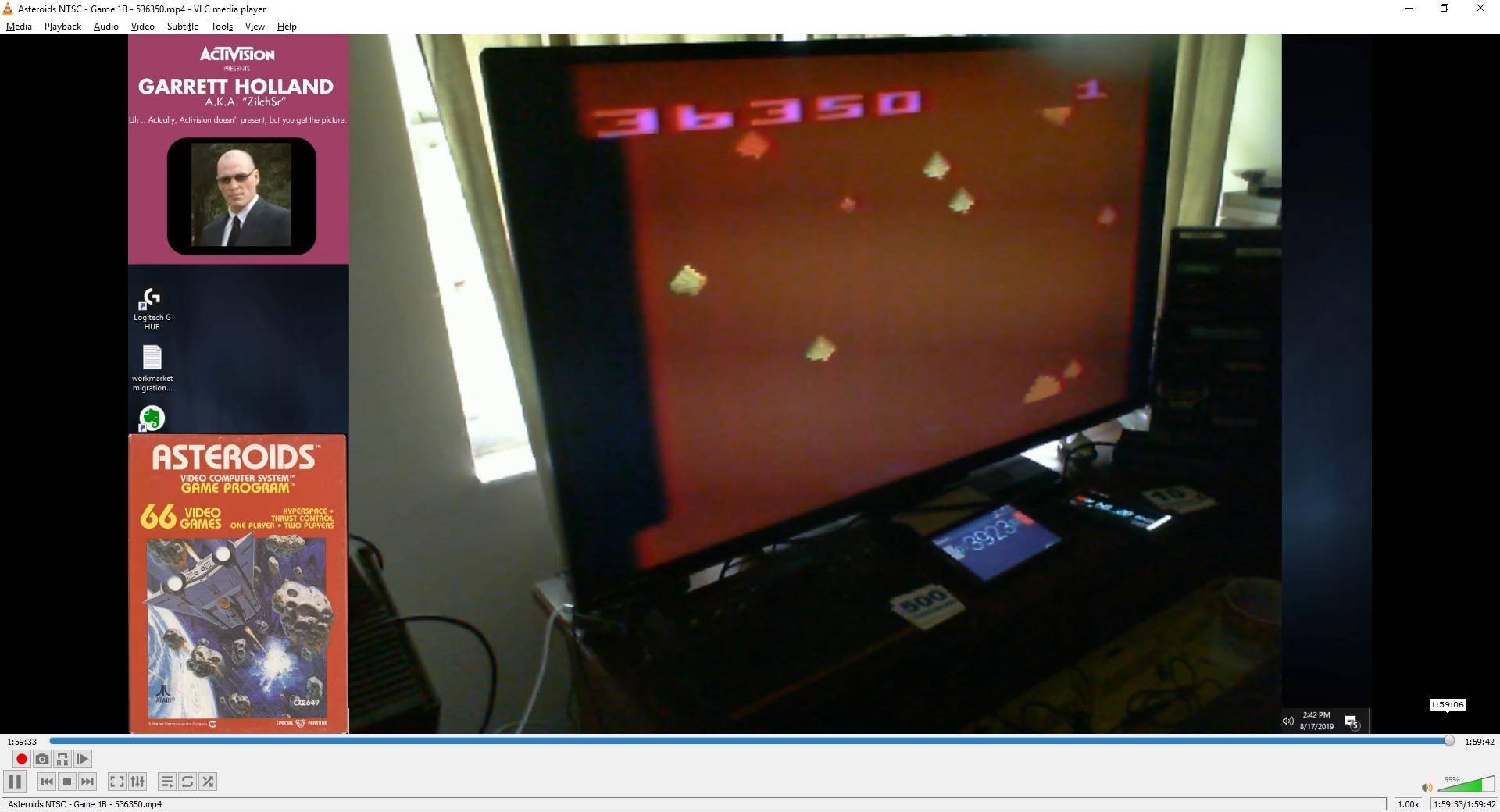 ZilchSr: Asteroids (Atari 2600 Novice/B) 636,350 points on 2020-05-07 01:47:06