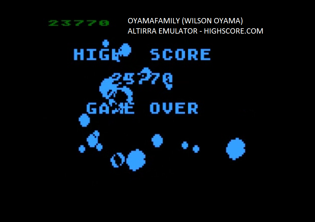 oyamafamily: Asteroids (Atari 5200 Emulated) 23,770 points on 2016-02-14 04:05:37