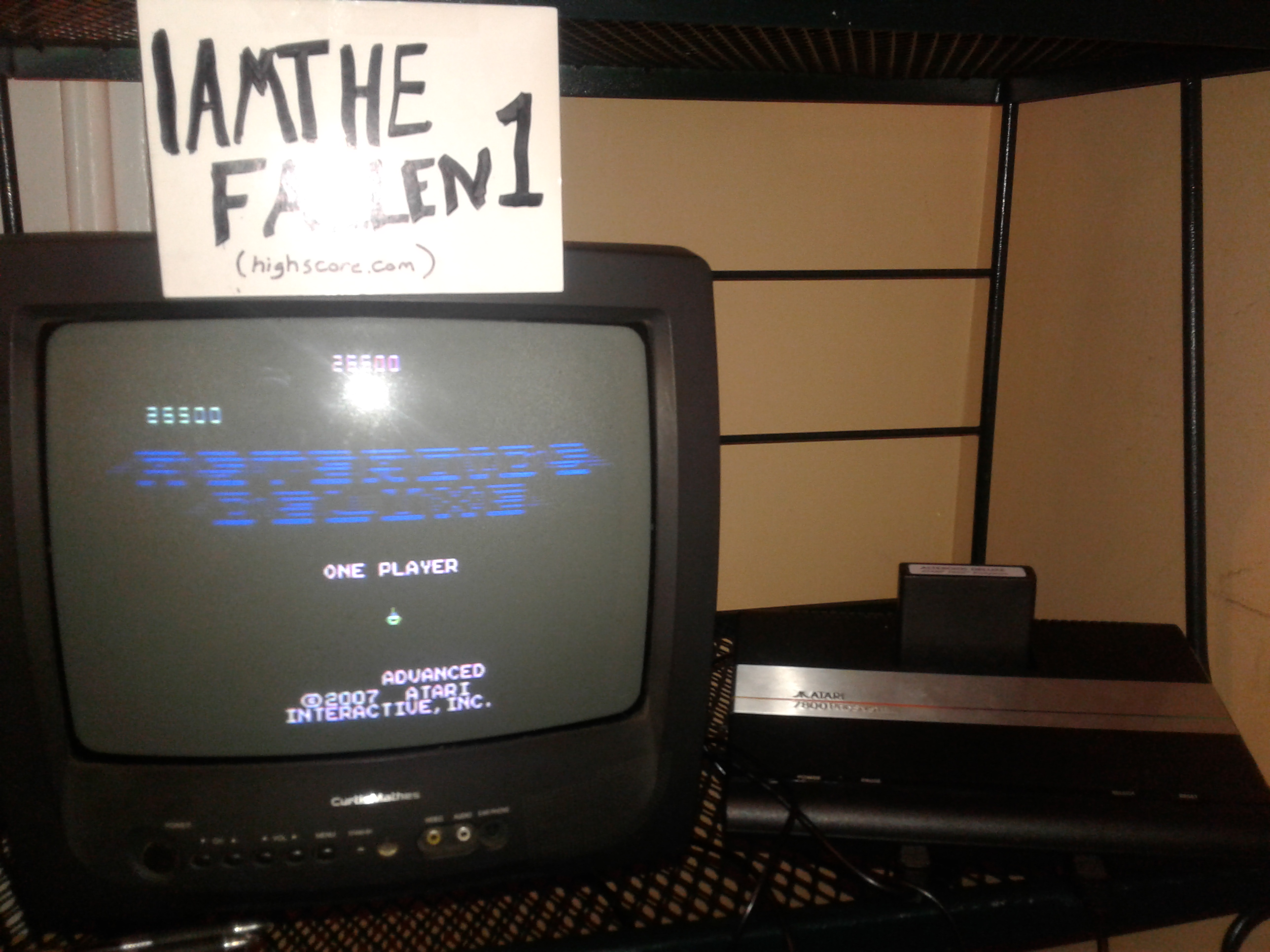 iamthefallen1: Asteroids Deluxe: Advanced (Atari 7800) 26,500 points on 2017-08-12 22:34:25