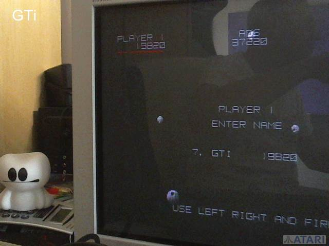 GTibel: Asteroids Deluxe (Atari ST) 19,820 points on 2017-07-15 07:17:07