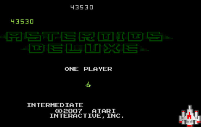 NamcoPlayer: Asteroids Deluxe: Intermediate (Atari 7800 Emulated) 43,530 points on 2020-12-01 14:57:14