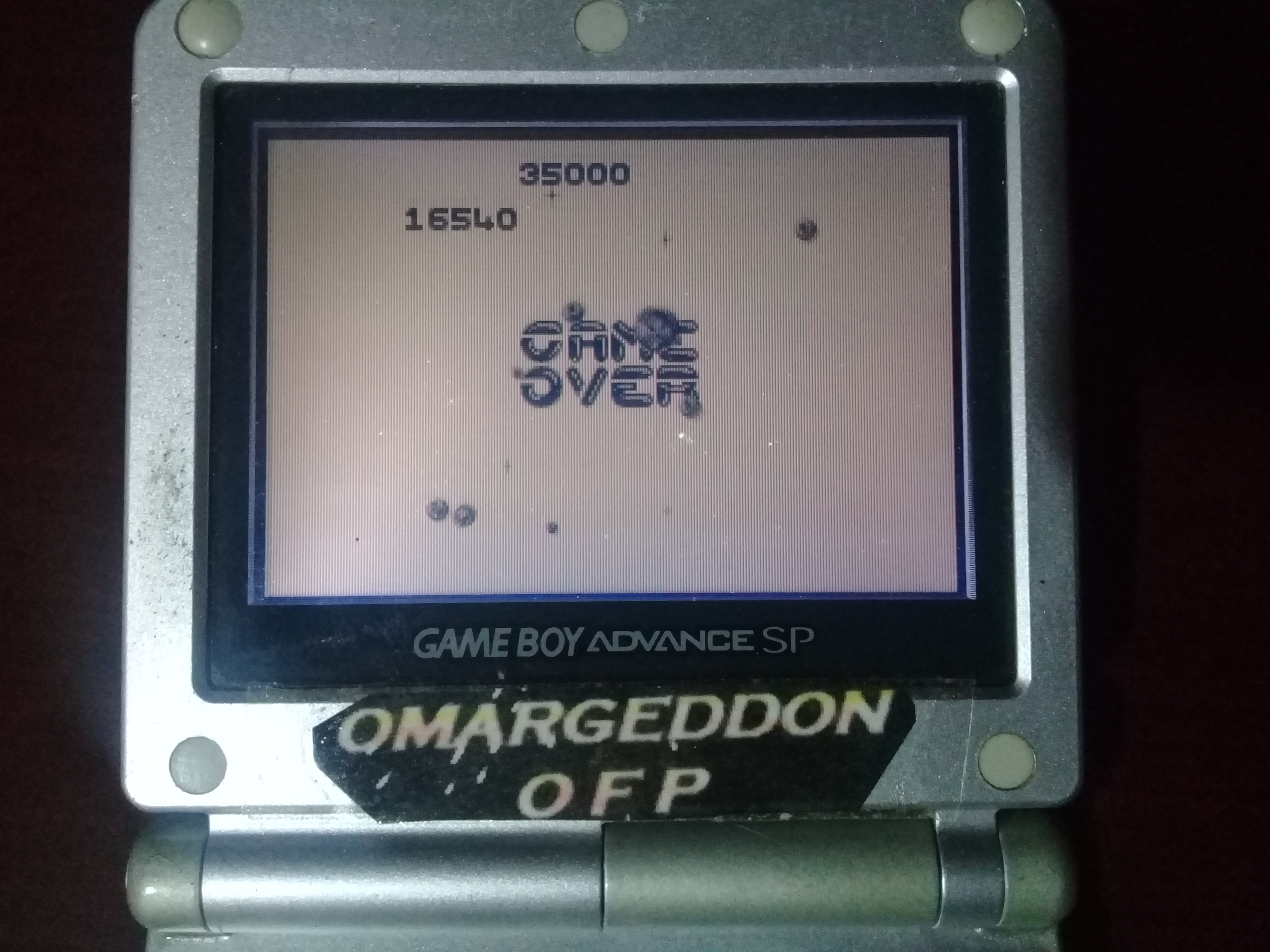 omargeddon: Asteroids [Difficulty 2] (Game Boy) 16,540 points on 2019-01-12 16:56:36