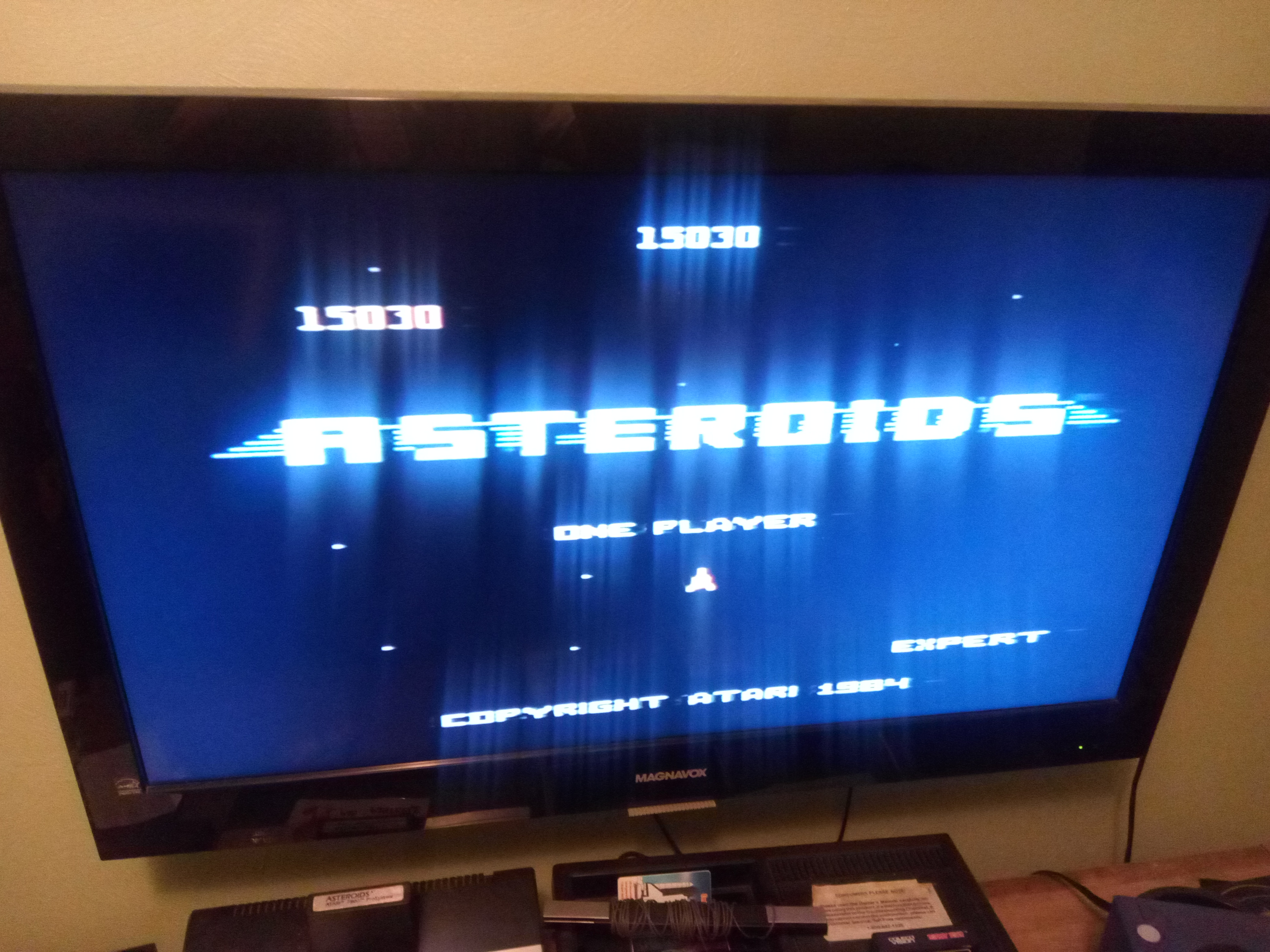 Pjsteele: Asteroids: Expert (Atari 7800) 15,030 points on 2019-04-25 19:08:36
