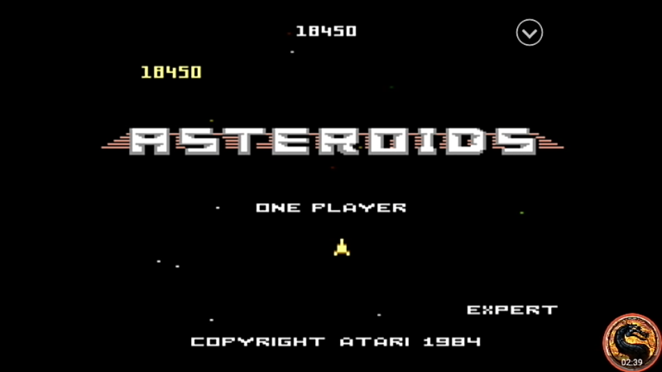 omargeddon: Asteroids: Expert (Atari 7800 Emulated) 18,450 points on 2019-08-16 13:31:52