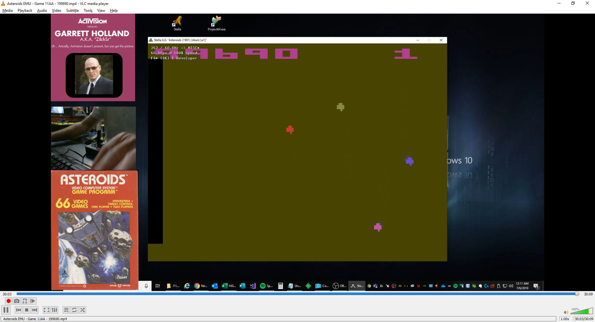 ZilchSr: Asteroids: Game 11 (Atari 2600 Emulated Expert/A Mode) 199,690 points on 2019-07-05 23:17:06
