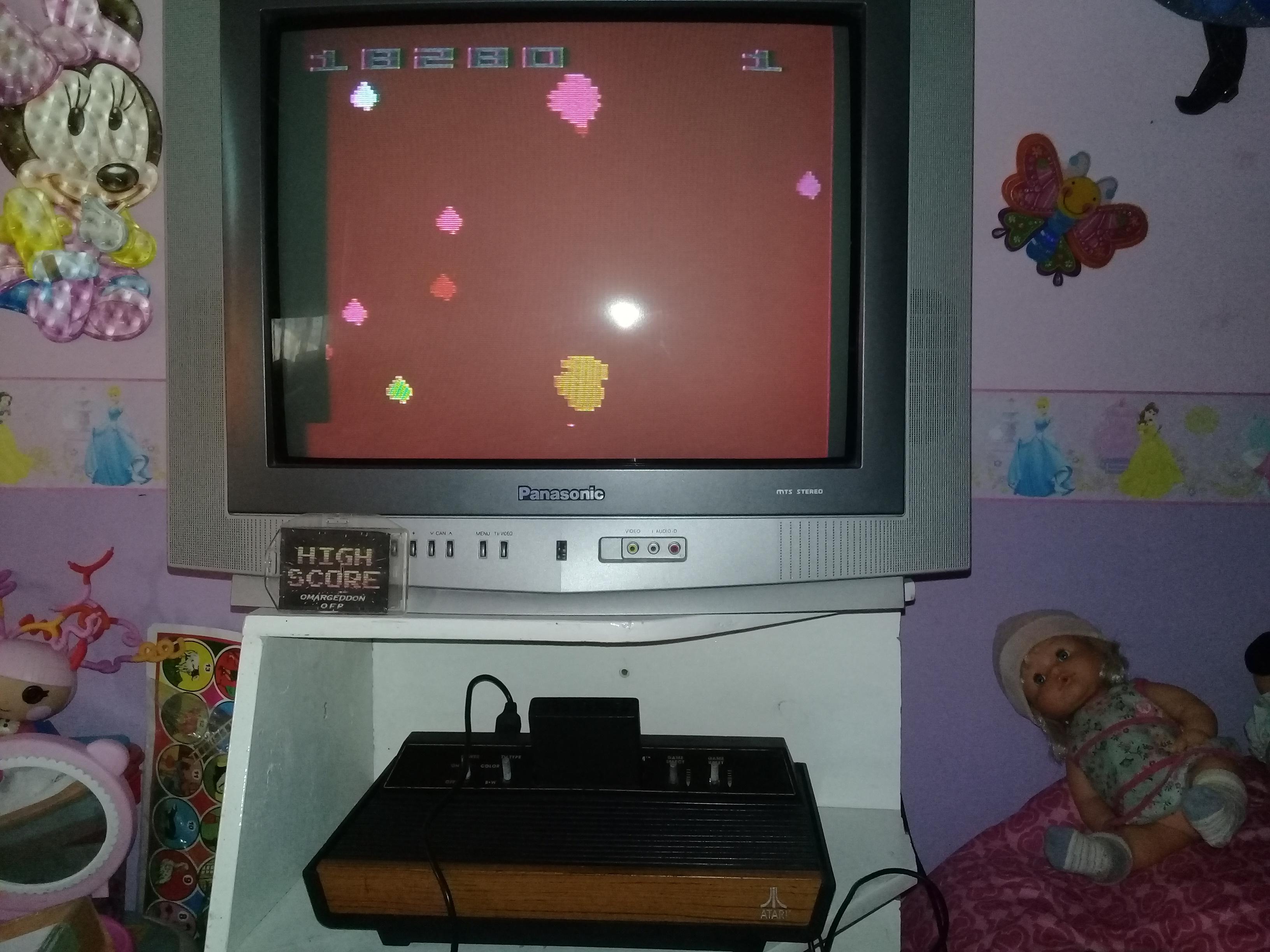 omargeddon: Asteroids: Game 16 (Atari 2600 Expert/A) 18,280 points on 2019-06-23 17:35:46